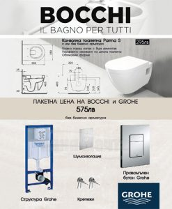 ПРОМО комплект BOCCHI Parma S и структура GROHE без биде