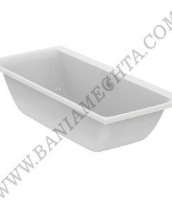 Правоъгълна двустранна вана за вграждане 180х80 см CONNECT AIR