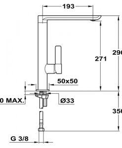 Смесител за кухня FO 915 Inox