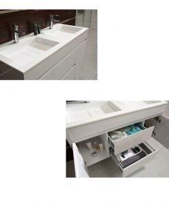 PVC шкаф с каменен умивалник 12046