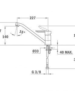 Смесител за кухня черен металик Teka ML Б.537