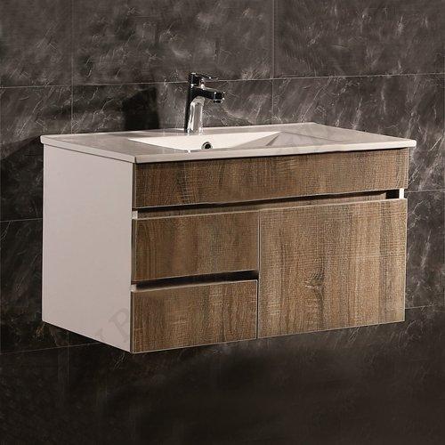 Комплект PVC шкаф за баня с MDF врати ICP 8146
