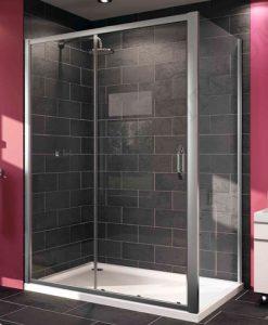 Плъзгаща се врата за душ кабина с 2 елемента HUPPE X1 120 см