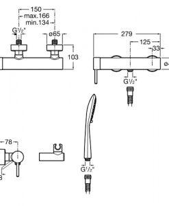 Смесител за душ с аксесоари LANTA A5A2011C00