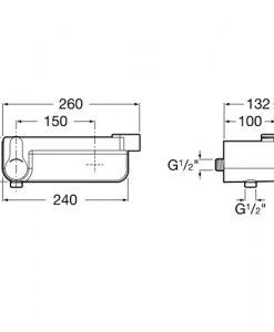 Смесител за душ с полица и вграден държач за слушалка DECK A5A2088C00