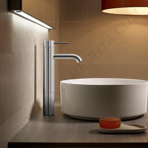 Смесител за мивка с висок чучур и click clack клапа Cold Start LANTA A5A3411C00_2