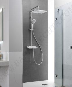 Термостатна душ колона с полица DECK SQUARE A5A9C88C00