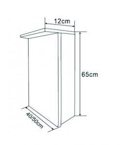 Огледален PVC шкаф за баня ICMC 1040-65 Led