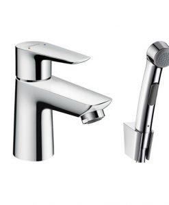 Ръкохватков смесител за мивка Talis E с ръчен душ биде и маркуч 160 см 71729000