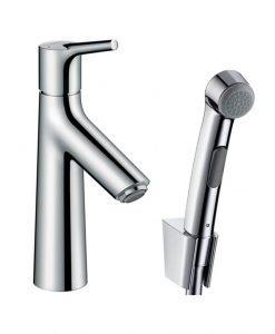 Ръкохватков смесител за мивка Talis S с ръчен душ биде и маркуч 160 см 72290000