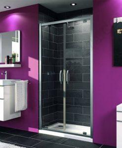 Двойна отваряема врата за душ кабина HUPPE X1 90 см