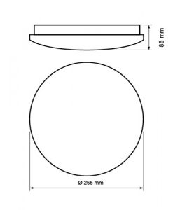 Декоративна LED плафониера SPLD1240