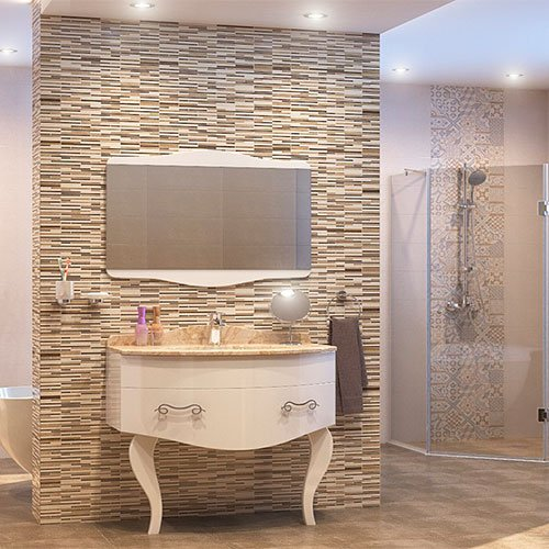Комплект PVC ретро шкаф за баня модел Реал