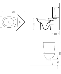 Ъглов моноблок със забавен капак FRIENDLY 6706