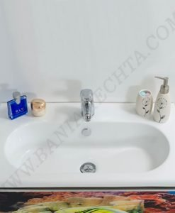 PVC Шкаф за баня комплект АНА 72 принт стъкло