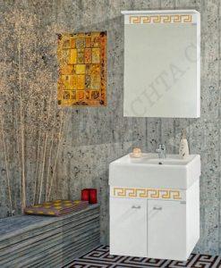 PVC Шкаф за баня комплект ПРИЗМА 50