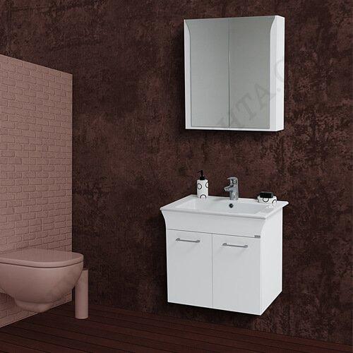 PVC Шкаф за баня комплект ЛИНЕА 65