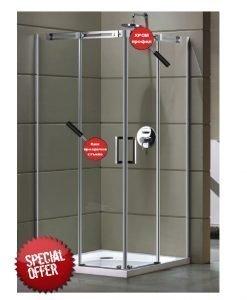 Луксозна квадратна душ кабина NAYA 90*90см.