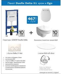 Промо пакет DUOFIX DELTA 51 хром и WC EGO