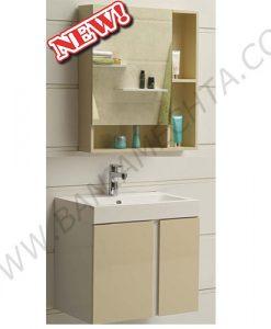 Комплект бежов PVC шкаф за баня ICP 6087 ICMC 5070-60