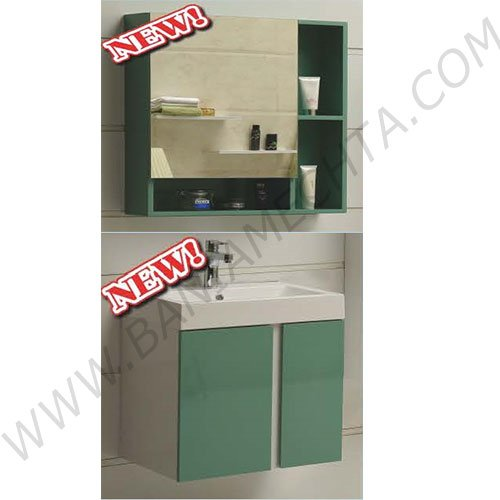 Комплект зелен PVC шкаф за баня ICP 6070 ICMC 5070-60