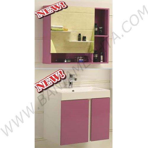 Комплект лилав PVC шкаф за баня ICP 6070 ICMC 5070-60