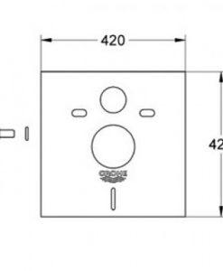 Шумоизолиращ комплект за структура за вграждане GROHE Rapid SL 37131000 размери