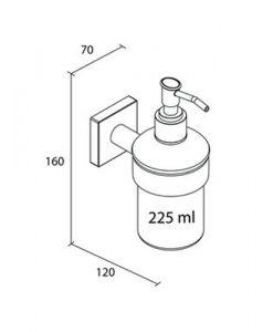 Дозатор за течен сапун LAHTI 637910