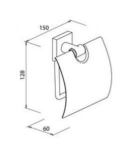 Държач за тоалетна хартия с капак QUARUNA 753910