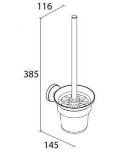 Четка за тоалетна OSLO 635410 размери