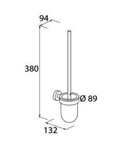 Четка за тоалетна VARUNA 779310 размери