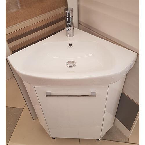 PVC ъглов шкаф за баня Аполо