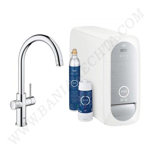 Кухненски смесител за филтрирана, изстудена и газирана вода GROHE BLUE HOME