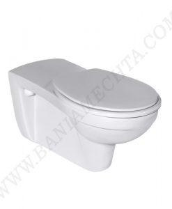 Окачена тоалетна чиния със седалка с капак CONTOUR 21 за хора с намалена подвижност