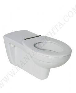 Окачена тоалетна чиния със седалка с метални панти CONTOUR 21 за хора с намалена подвижност