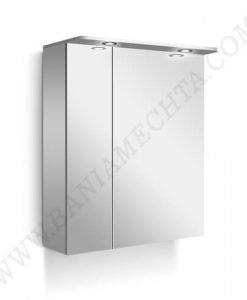 PVC Шкаф за баня с LED осветление LINE 55 см