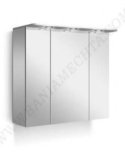 PVC Шкаф за баня с LED осветление LINE 80 см