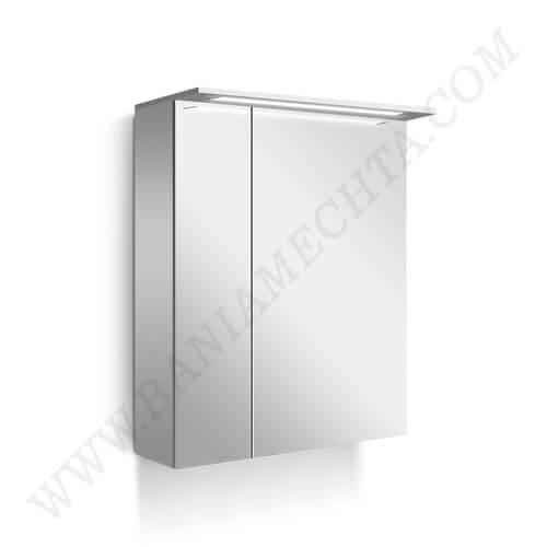 PVC Шкаф за баня с LED осветление NICE 55 см