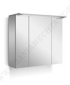 PVC Шкаф за баня с LED осветление NICE 90 см
