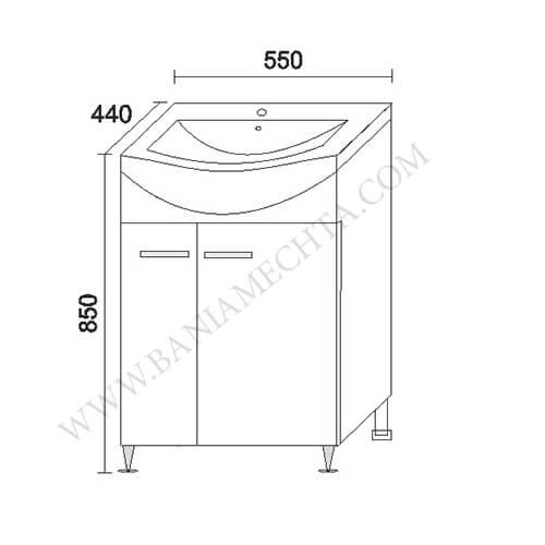 PVC шкаф за баня АТИЛА