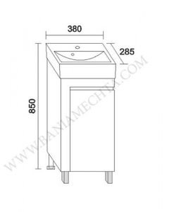 PVC шкаф за баня ВЕГА