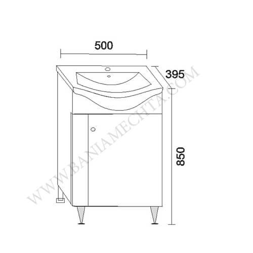 PVC шкаф за баня СТЕЛА