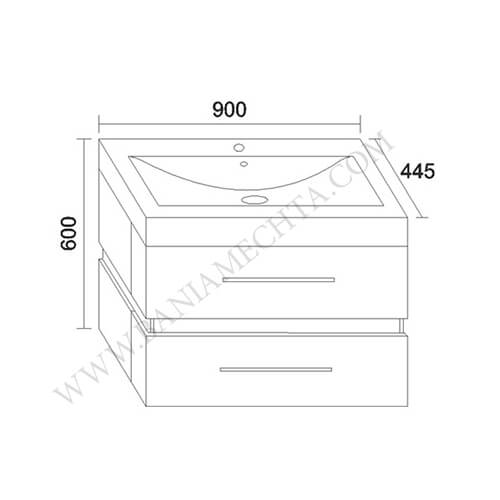 PVC шкаф за баня СТЕП