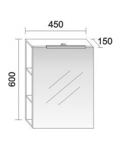 Горен PVC шкаф за баня модел Изи