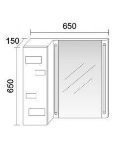 Горен PVC шкаф за баня модел Лайт
