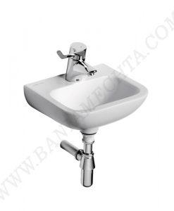 Малка мивка за ръце 37 см с отвор за смесител CONTOUR 21 за хора с намалена подвижност