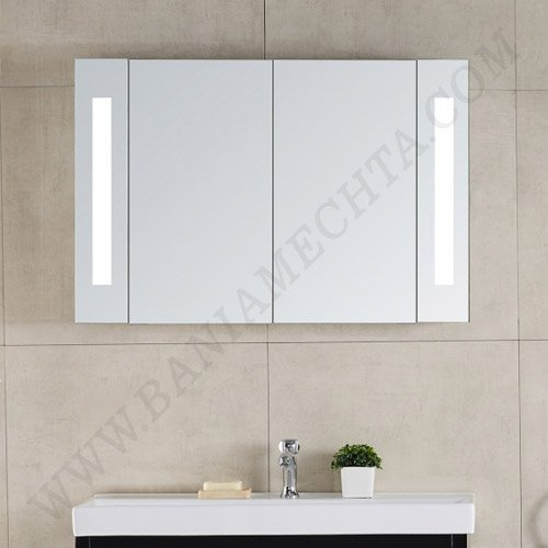 Огледален шкаф за баня с LED осветление ЯНИНА ICL 1725