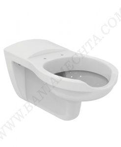 Окачена тоалетна със седалка с метални панти MAIA за хора с намалена подвижност