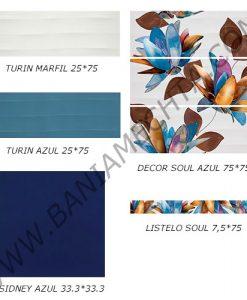 Плочки за баня серия TURIN AZUL