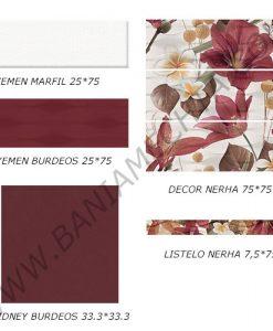 Плочки за баня серия YEMEN BURDEOS